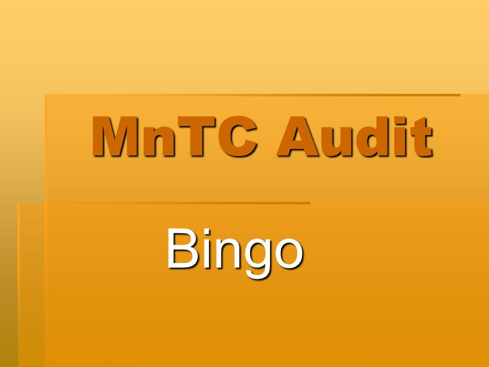 MnTC Audit Bingo