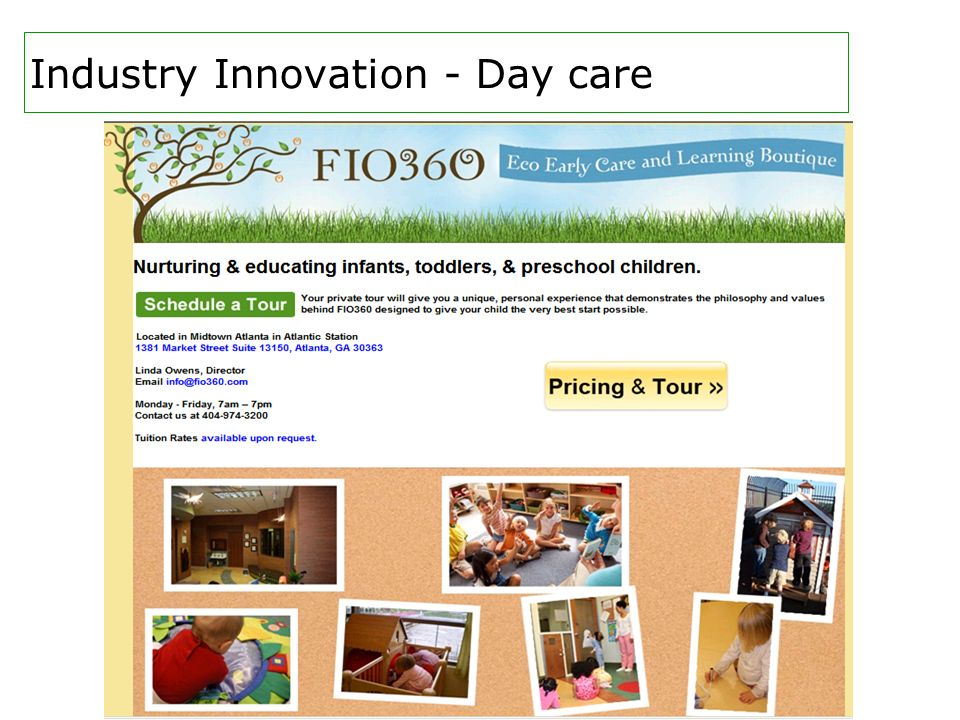 Industry Innovation - Day care
