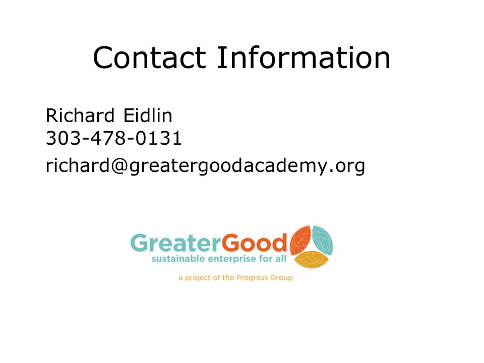 Richard Eidlin Contact Information