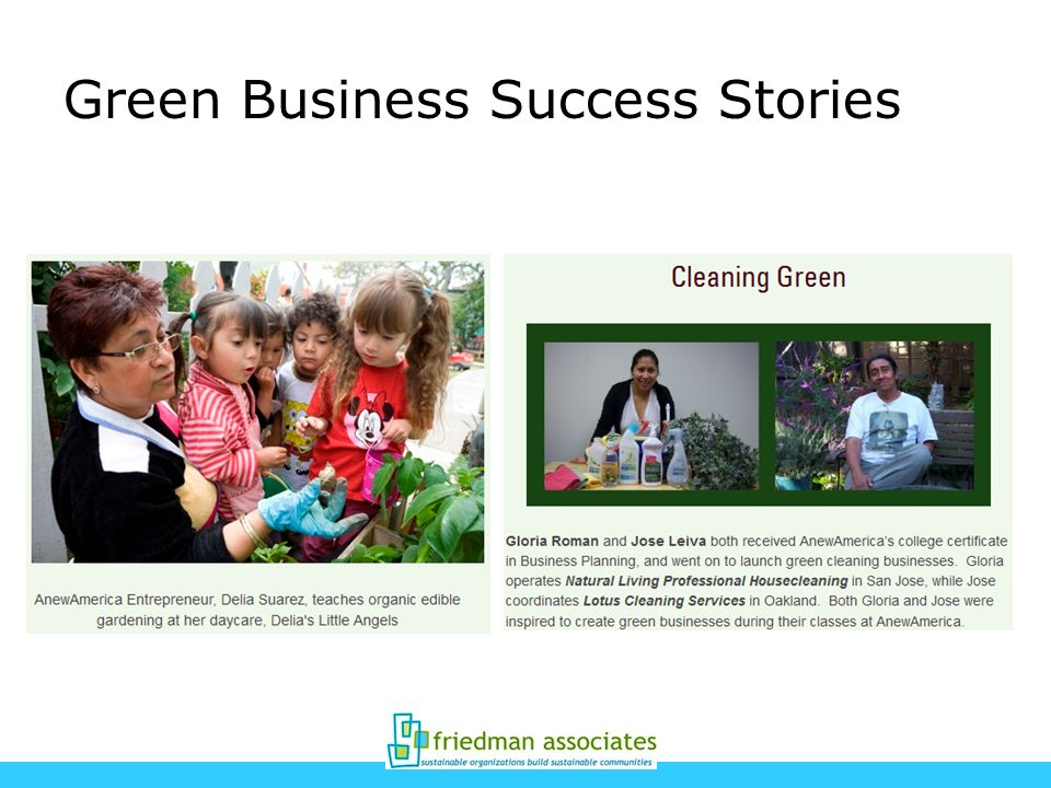 Green Business Success Stories