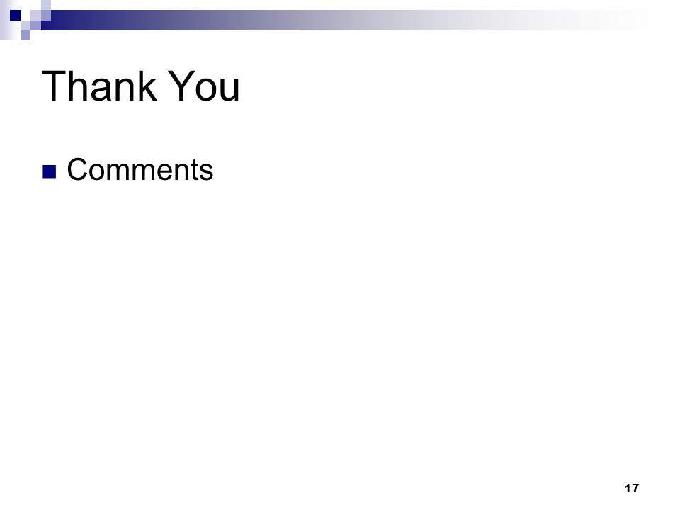 Thank You Comments 17
