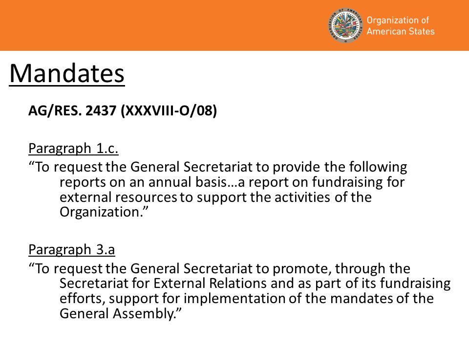 Mandates Executive Order 08-01 rev.