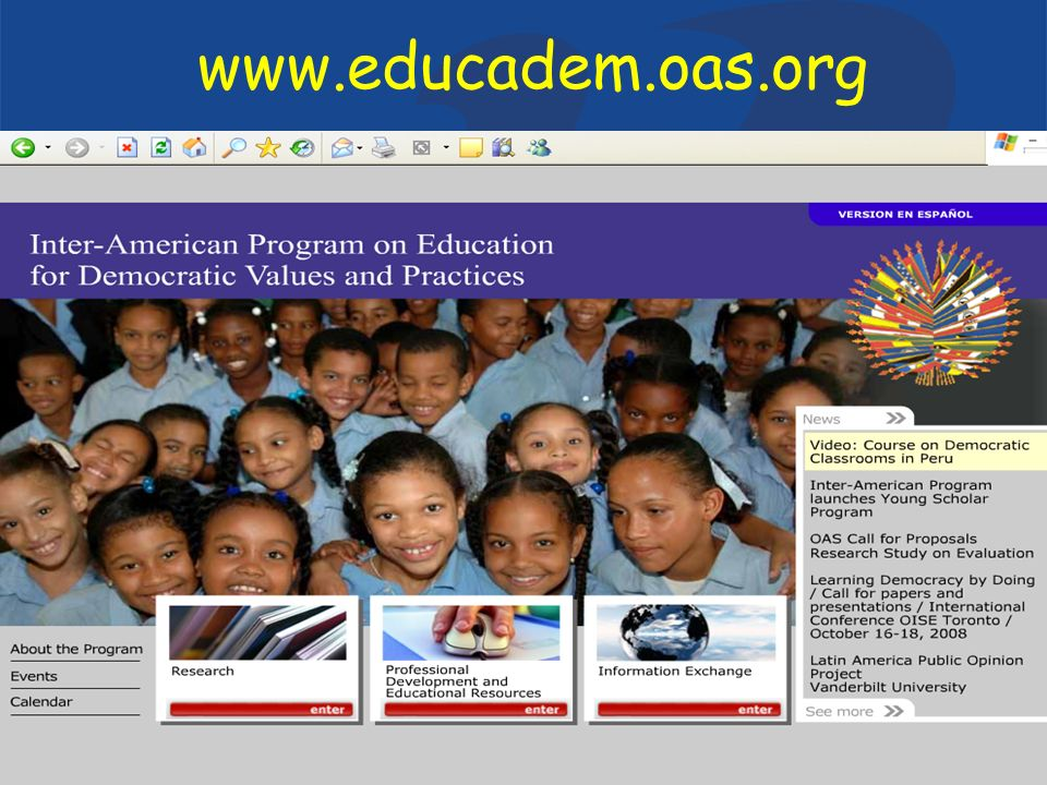 Department of Education and CultureOrganization of American States www.educadem.oas.org