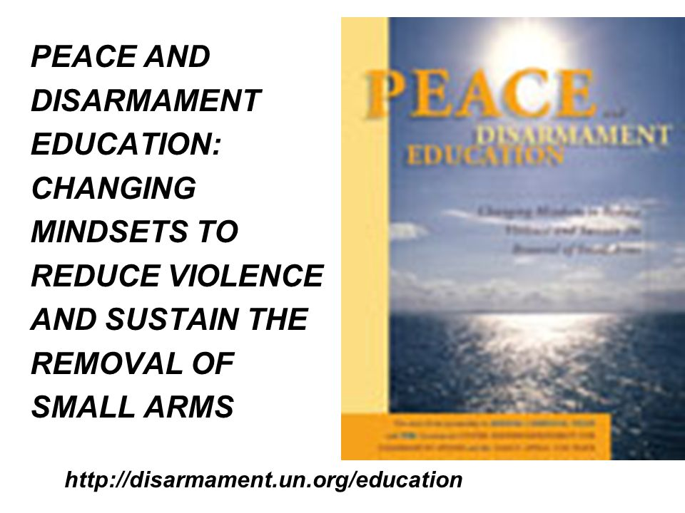 DISARMAMENT AFFAIRS & HAGUE APPEAL for PEACE 4 COUNTRY / 4 CONTINENT PROJECT