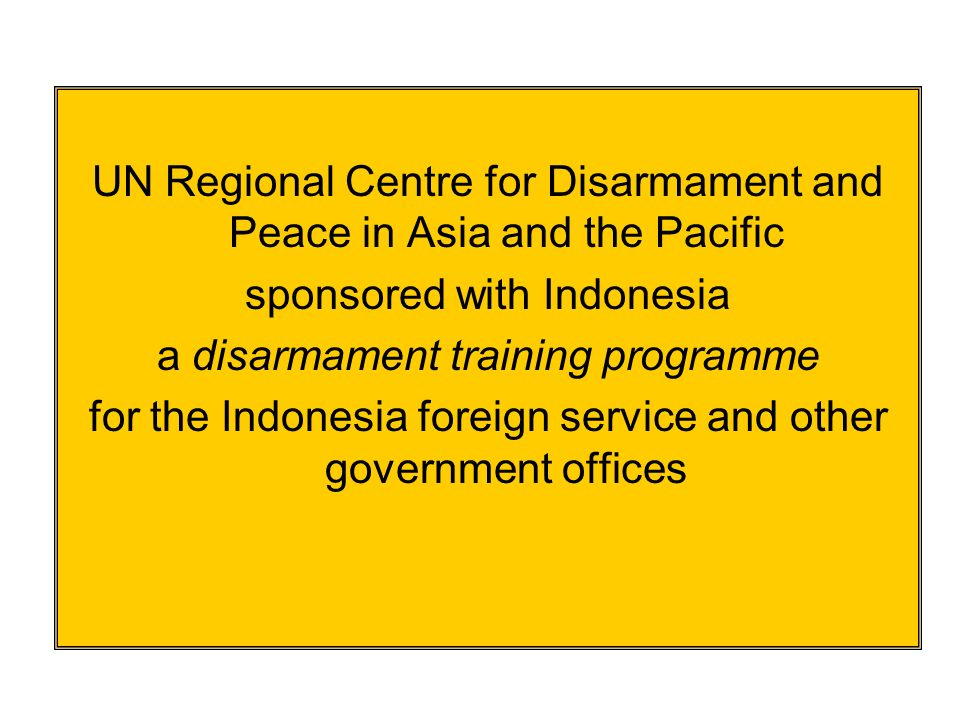 On the job training – more than 700 UN Disarmament Fellows since Programme began 28 years ago