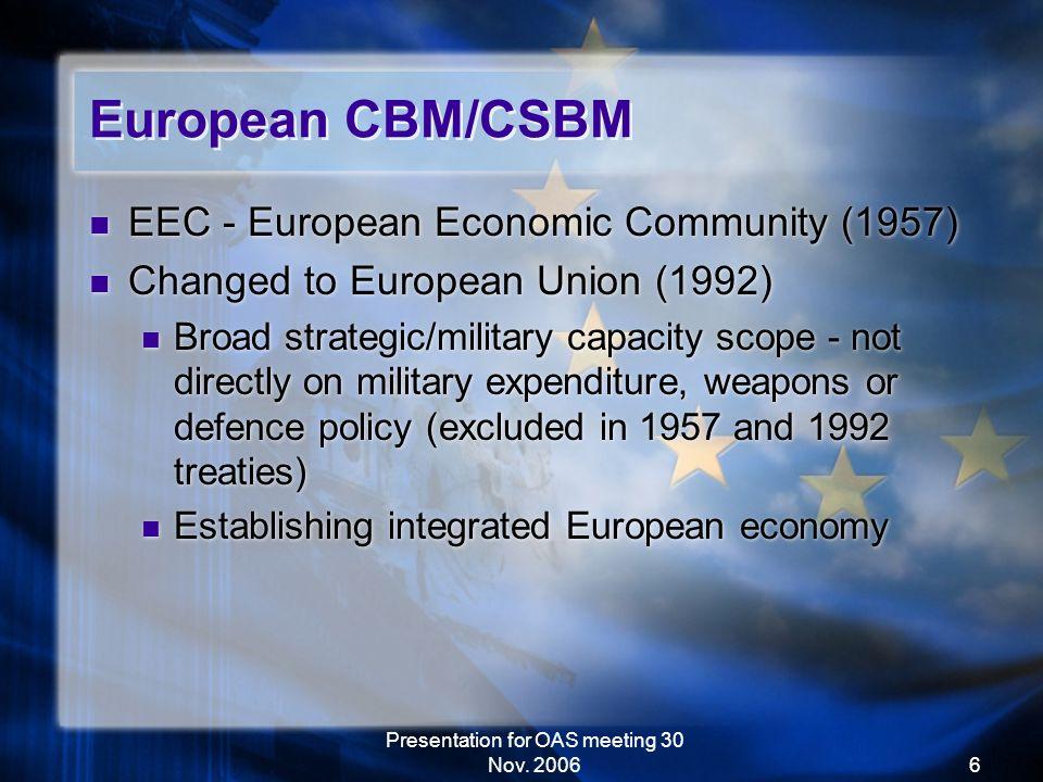 Presentation for OAS meeting 30 Nov.
