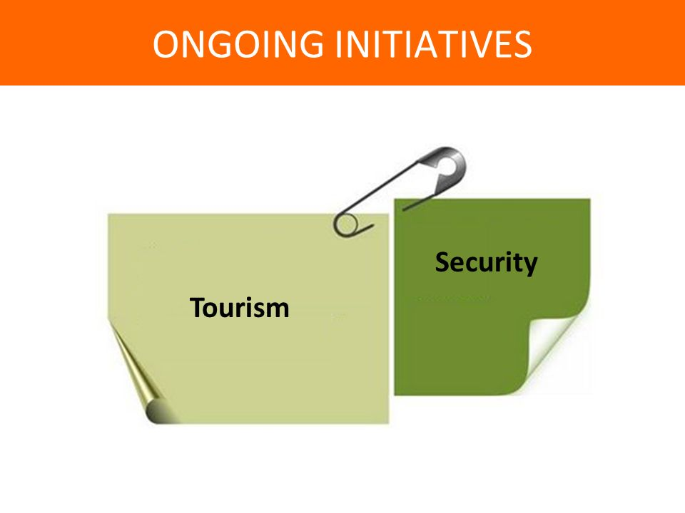 Security Tourism ONGOING INITIATIVES