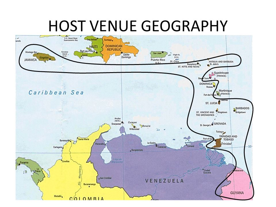 HOST VENUE GEOGRAPHY