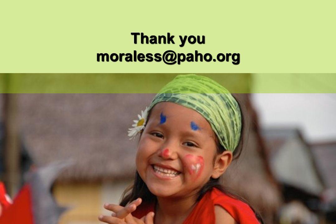 Thank you moraless@paho.org