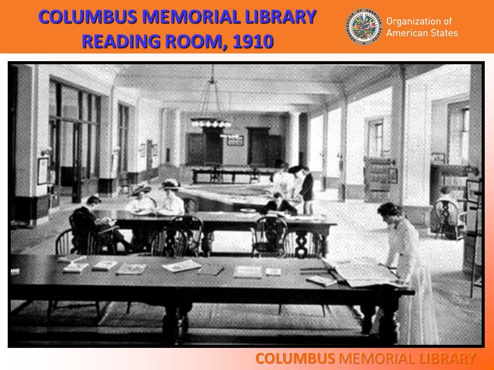 COLUMBUS MEMORIAL LIBRARY READING ROOM, 1910