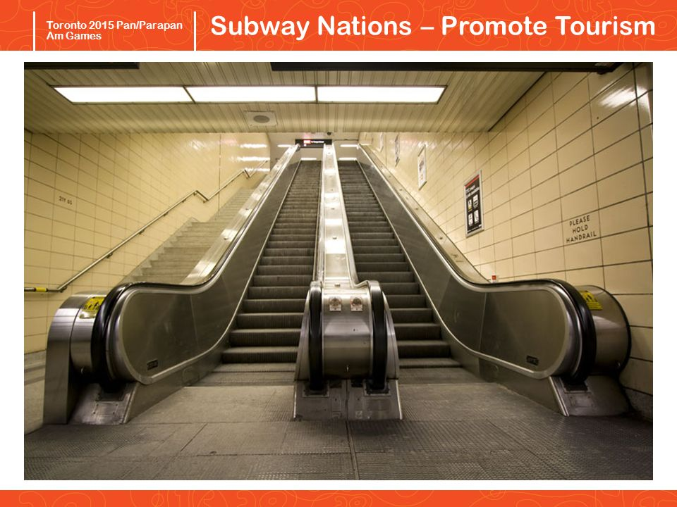 Pan/Parapan Am Toronto 2015 Toronto 2015 Pan/Parapan Am Games Subway Nations – Promote Tourism