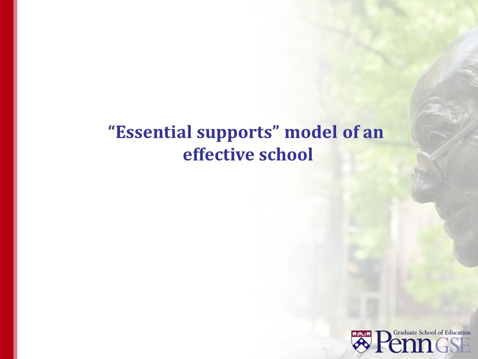 Essential supports model of an effective school