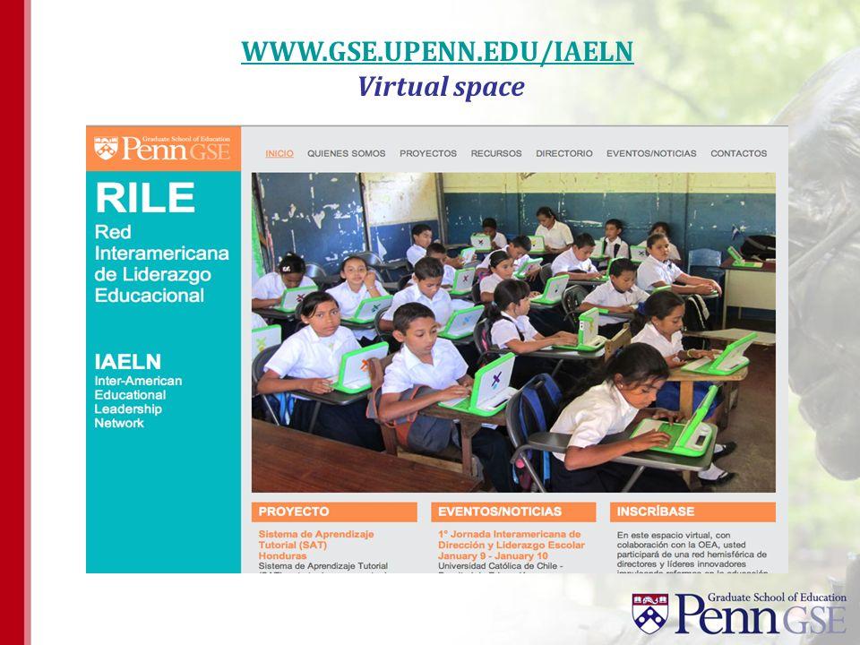 WWW.GSE.UPENN.EDU/IAELN Virtual space