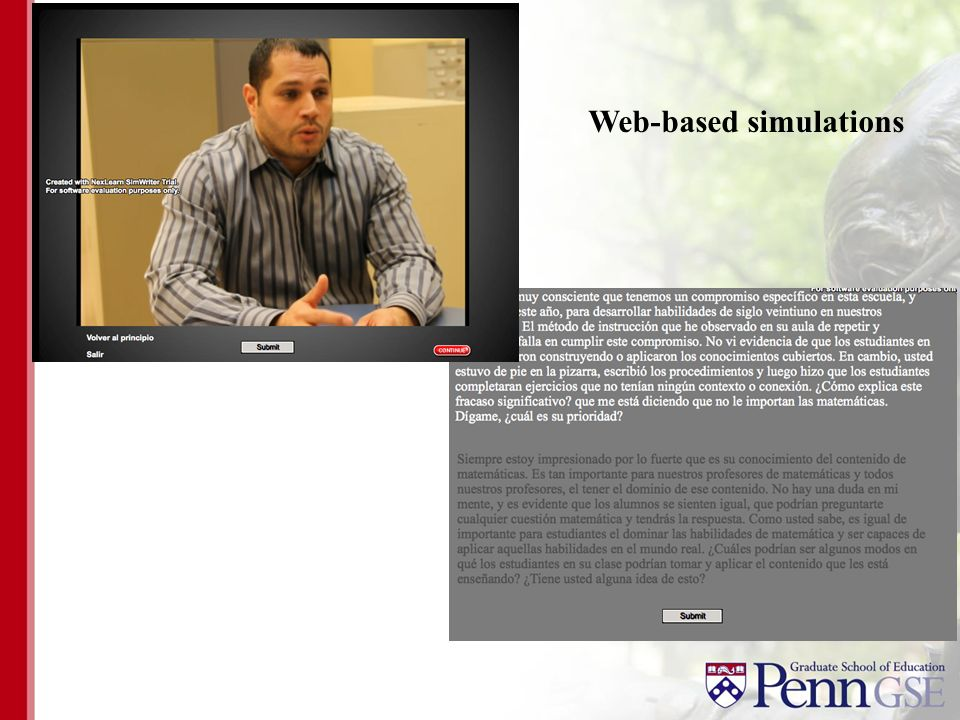 Web-based simulations