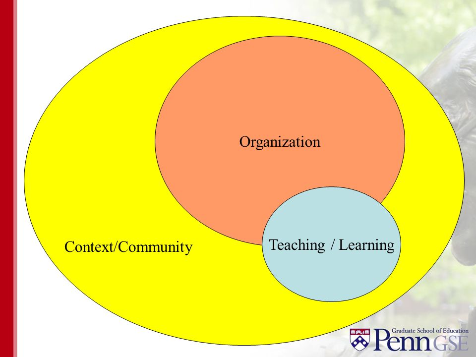 Organization Context/Community Teaching / Learning