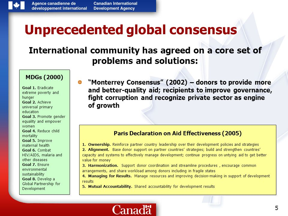 5 Unprecedented global consensus MDGs (2000) Goal 1.