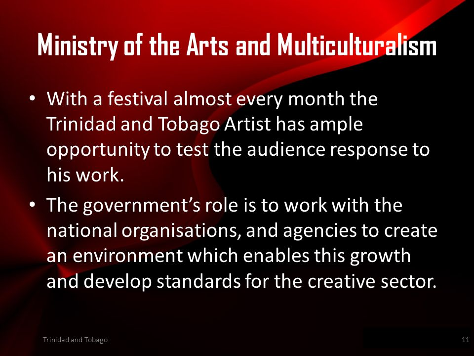 Wwwpd With a festival almost every month the Trinidad and Tobago Artist has ample opportunity to test the audience response to his work.