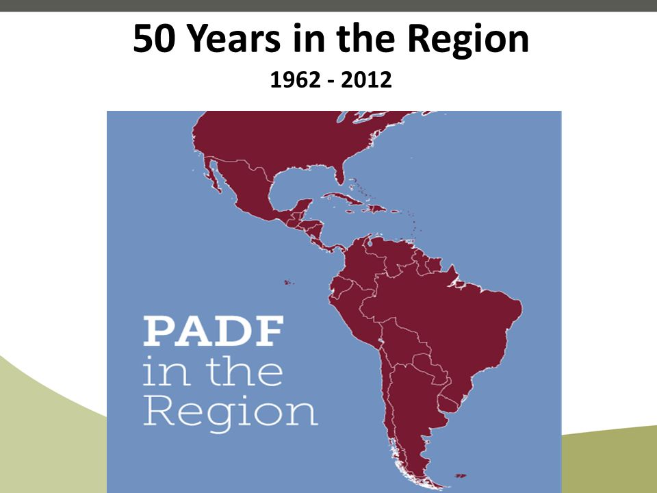 50 Years in the Region 1962 - 2012