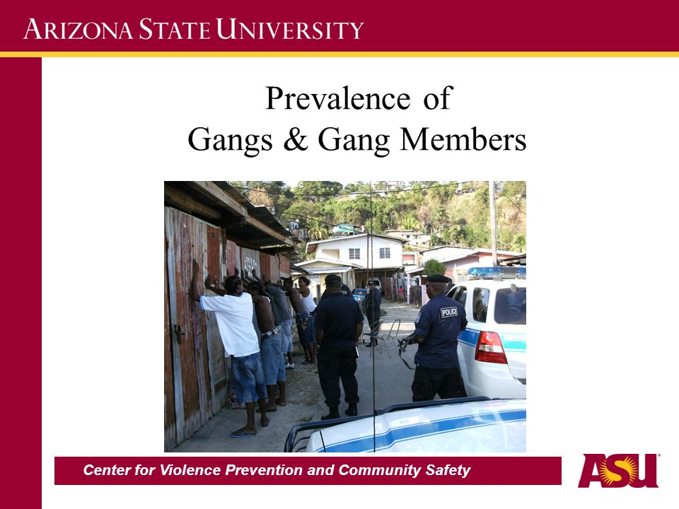 Prevalence of Gangs & Gang Members Center for Violence Prevention and Community Safety