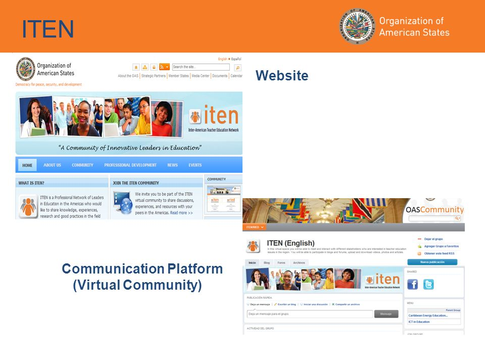 ITEN Website Communication Platform (Virtual Community)