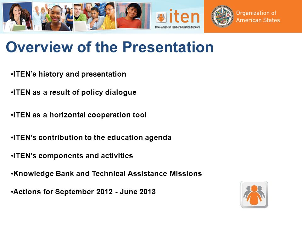 Overview of the Presentation ITENs history and presentation ITEN as a result of policy dialogue ITEN as a horizontal cooperation tool ITENs contributi