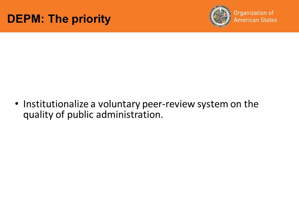 Institutionalize a voluntary peer-review system on the quality of public administration.