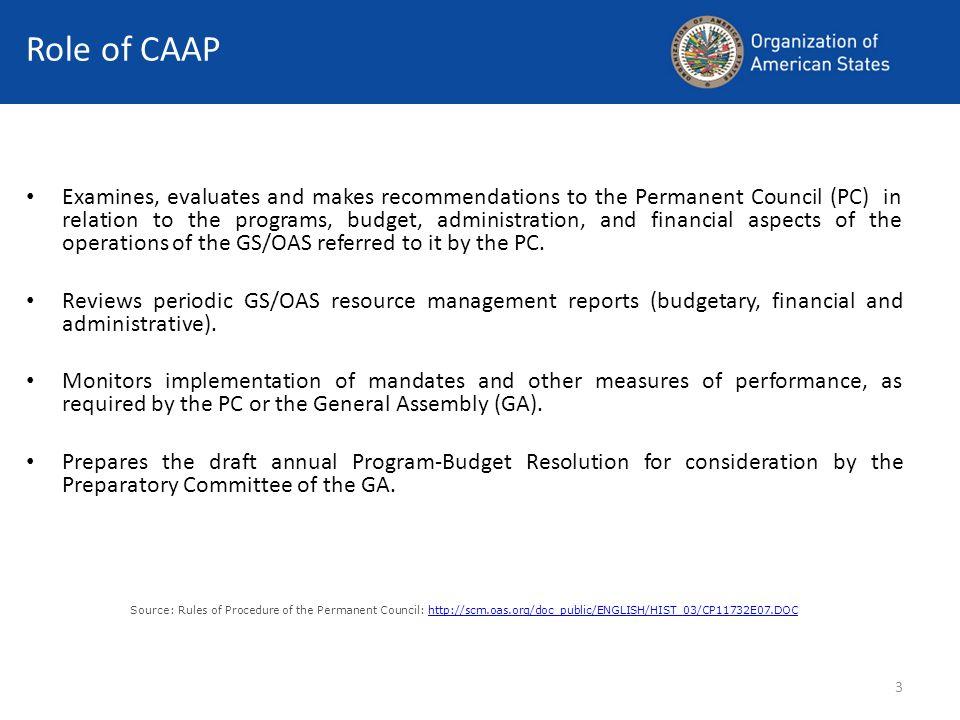 4 CAAP Basic Documents Legal Framework, Mandates: Charter of the OAS.