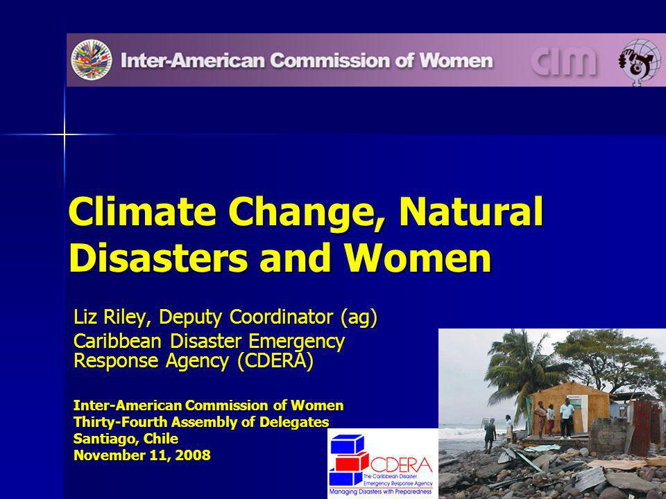 12 Overarching context – social dimensions of natural hazard impacts and climate change Overarching context – social dimensions of natural hazard impacts and climate change –Susceptibility vs resilience How do natural disasters and climate change affect women?