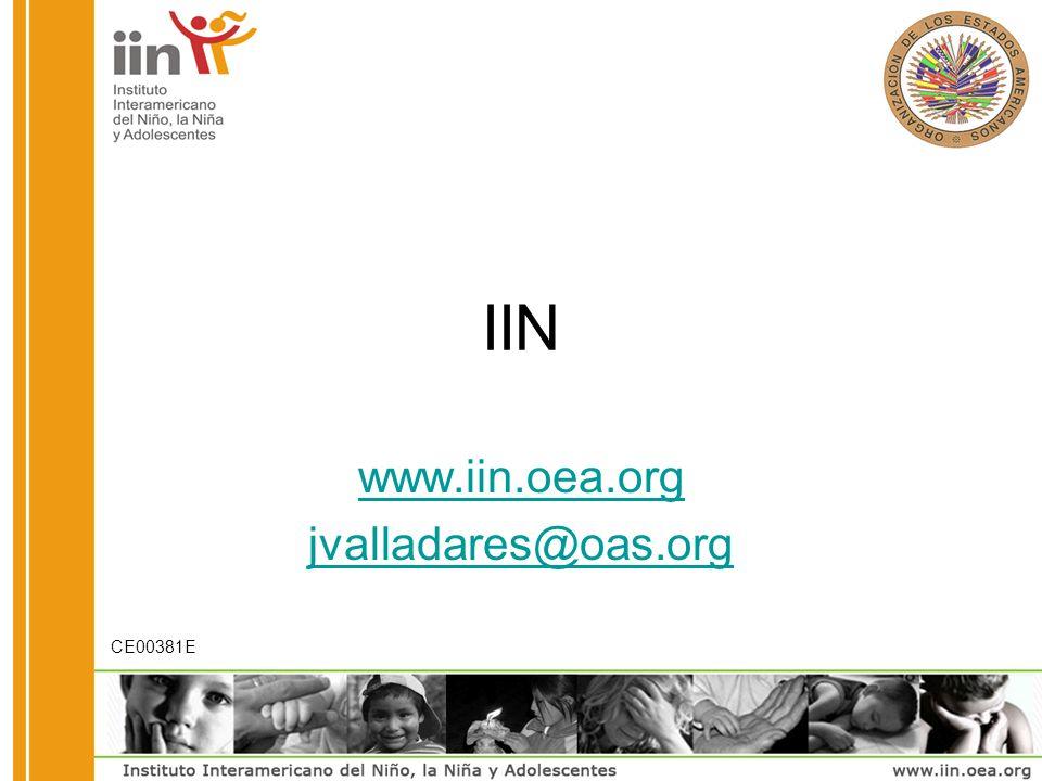 IIN www.iin.oea.org jvalladares@oas.org CE00381E