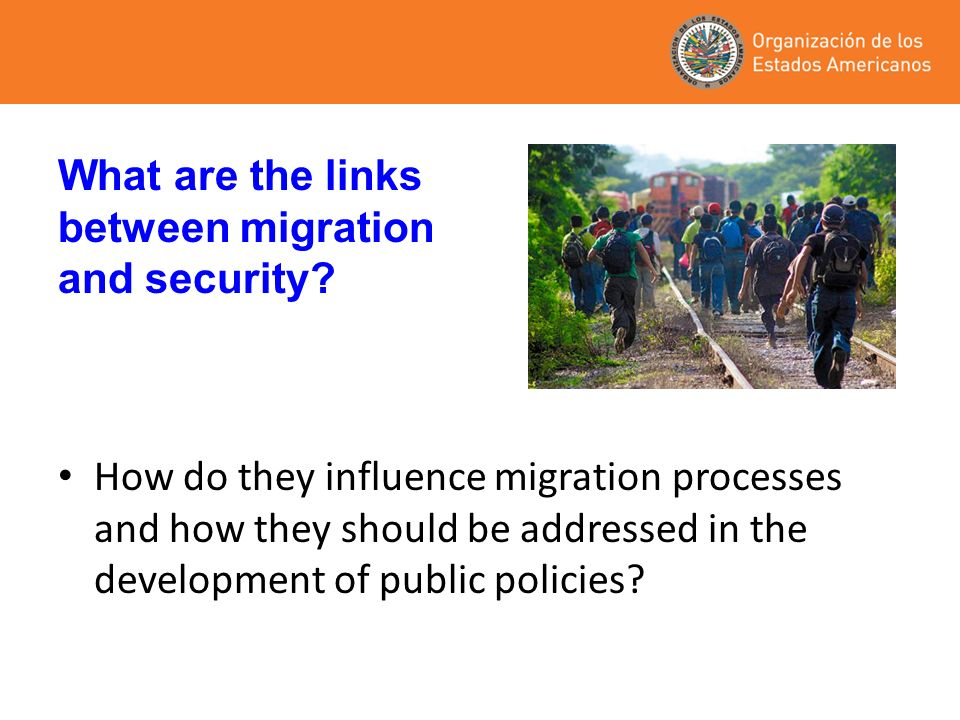 How do they influence migration processes and how they should be addressed in the development of public policies? What are the links between migration