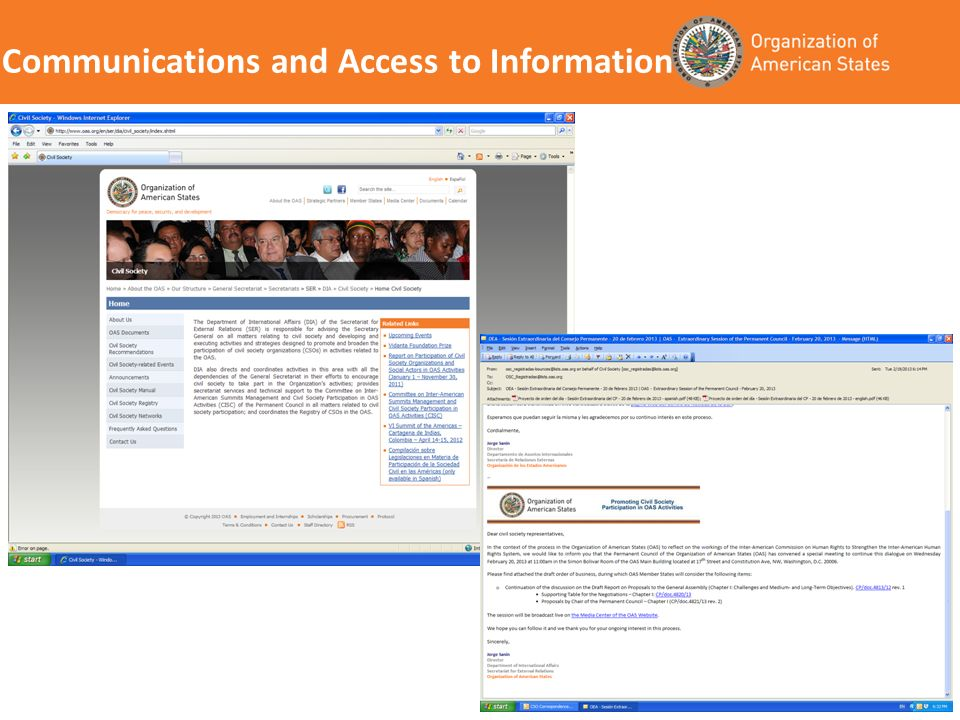 Communications and Access to Information