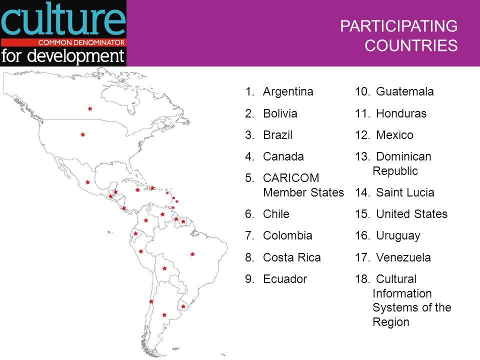 PARTICIPATING COUNTRIES 1.Argentina 2.Bolivia 3.Brazil 4.Canada 5.CARICOM Member States 6.Chile 7.Colombia 8.Costa Rica 9.Ecuador 10.
