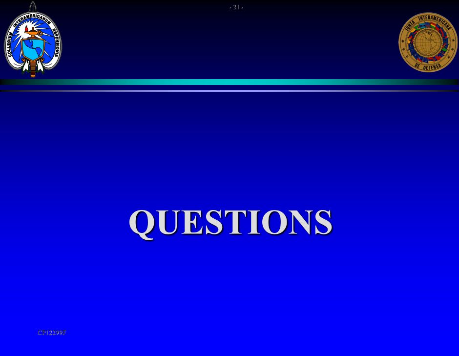 QUESTIONS - 21 - CP12299F