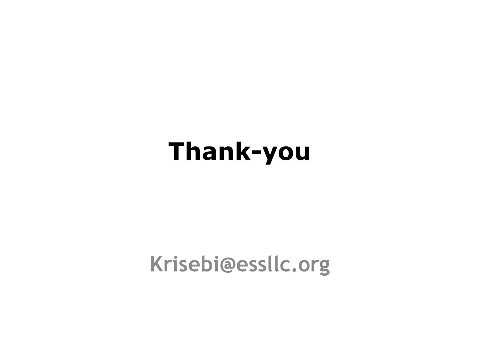 Thank-you Krisebi@essllc.org