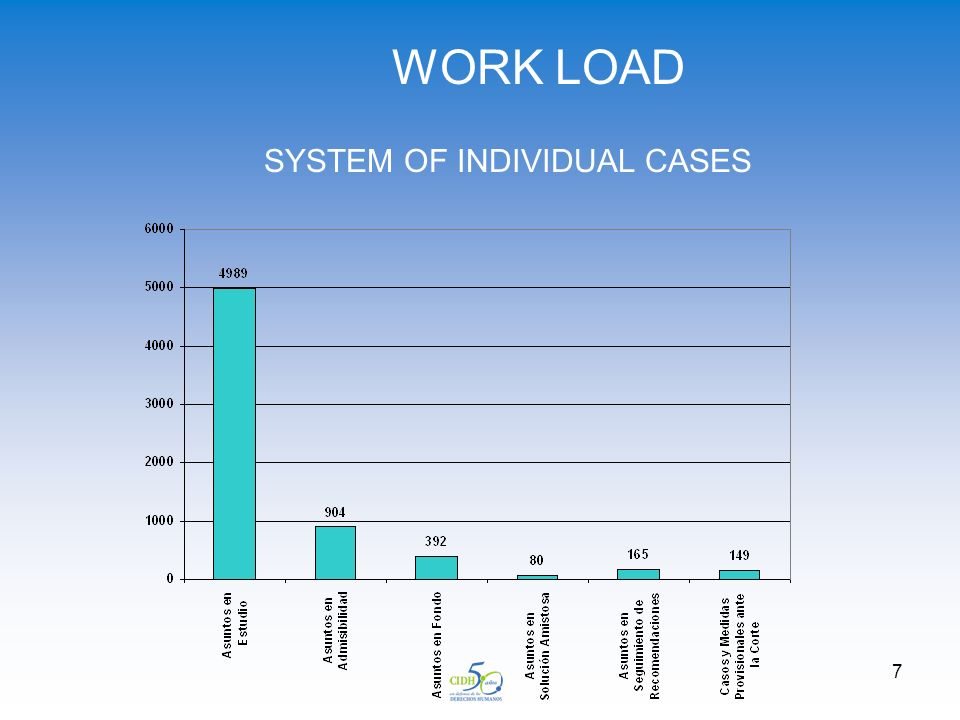 7 WORK LOAD SYSTEM OF INDIVIDUAL CASES