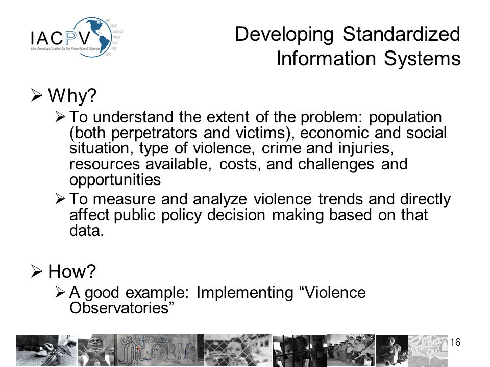 16 Developing Standardized Information Systems Why.