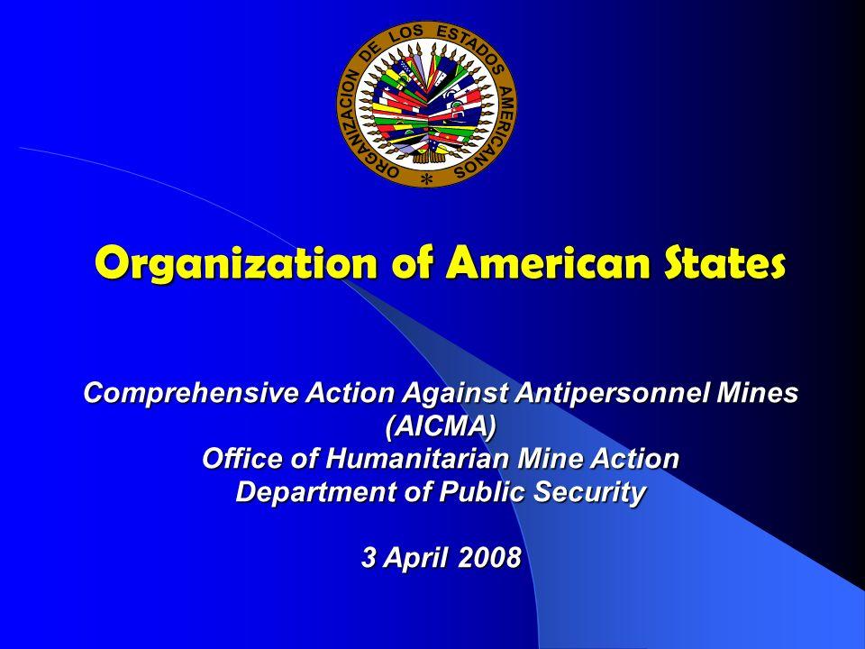 Agenda Agenda The OAS Mine Action Program Achievements Challenges