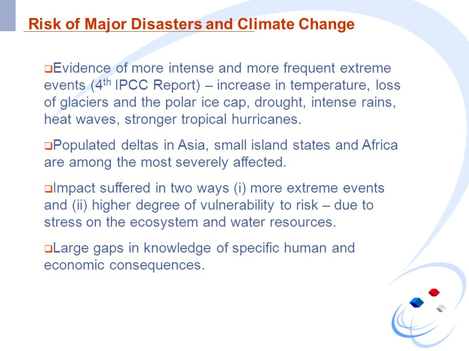 Climate Change and Sustainable Development Climate change is and will be a serious threat to sustainable development.