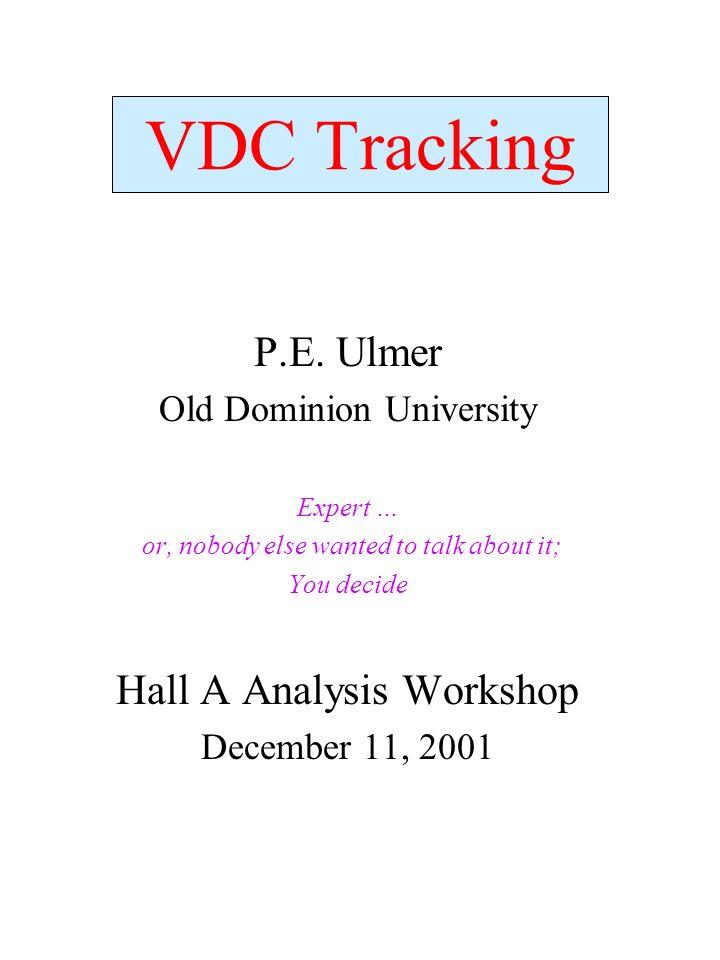 VDC Tracking P.E.