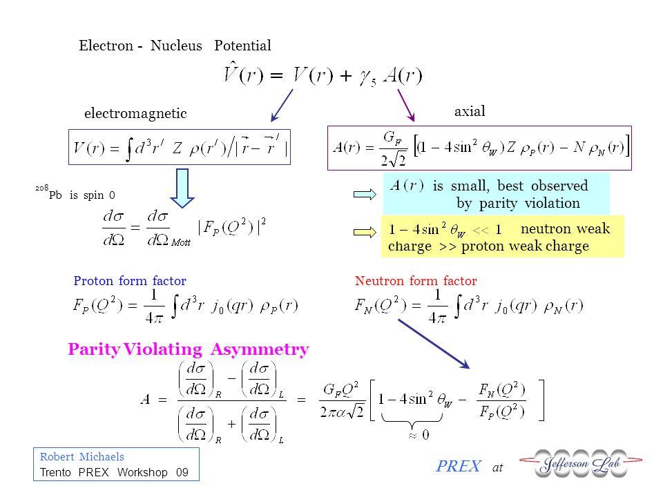 Robert Michaels PREX at Trento PREX Workshop 09 PREX : Summary of Future Options Do PREX better R N to ~ 0.6 % ?.