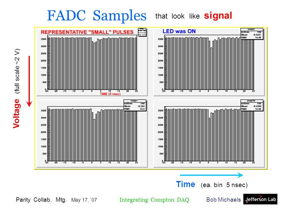 Bob MichaelsParity Collab. Mtg. May 17, `07 Integrating Compton DAQ Time (ea.