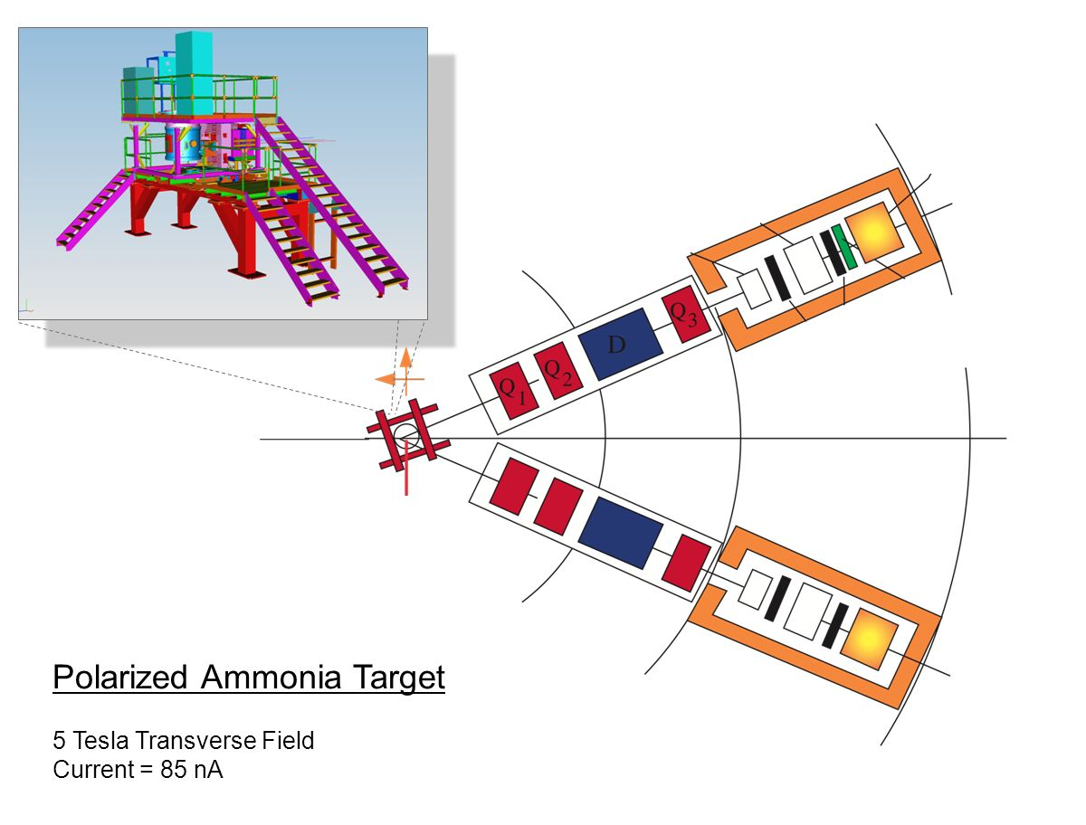 Polarized Ammonia Target 5 Tesla Transverse Field Current = 85 nA