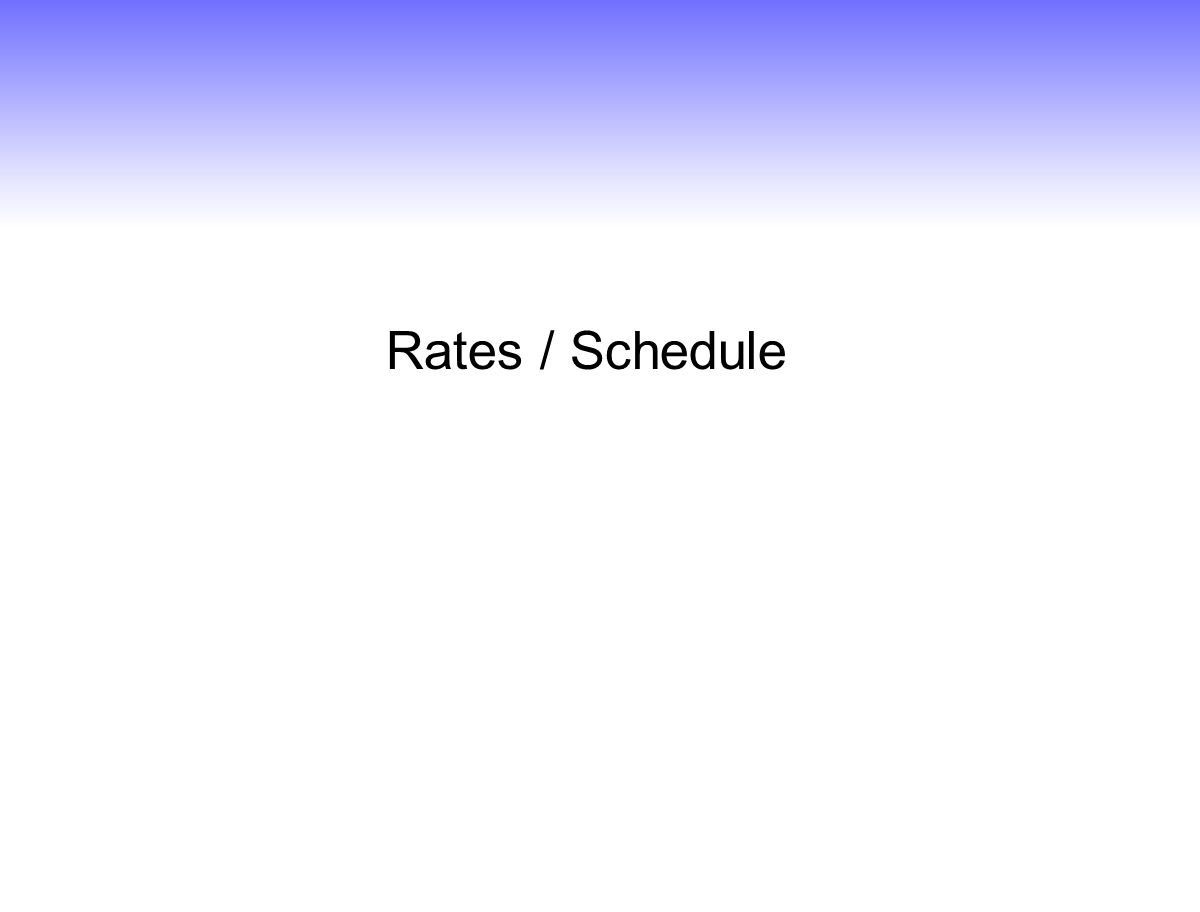 Rates / Schedule