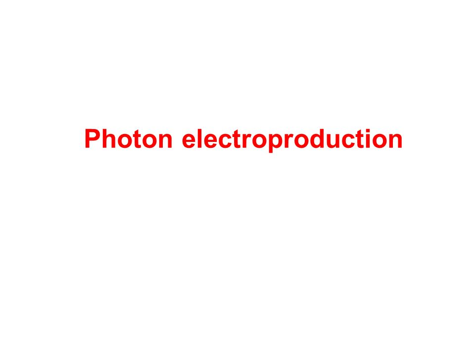 Photon electroproduction