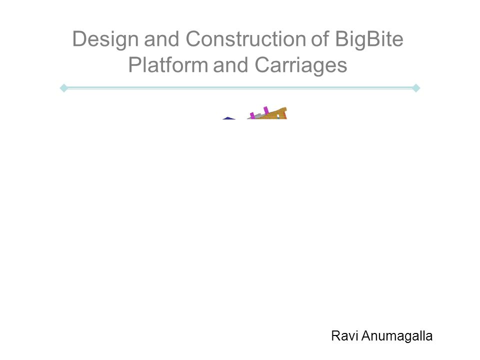 Design and Construction of BigBite Platform and Carriages Ravi Anumagalla