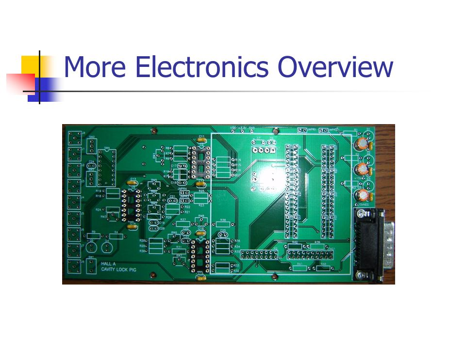 More Electronics Overview