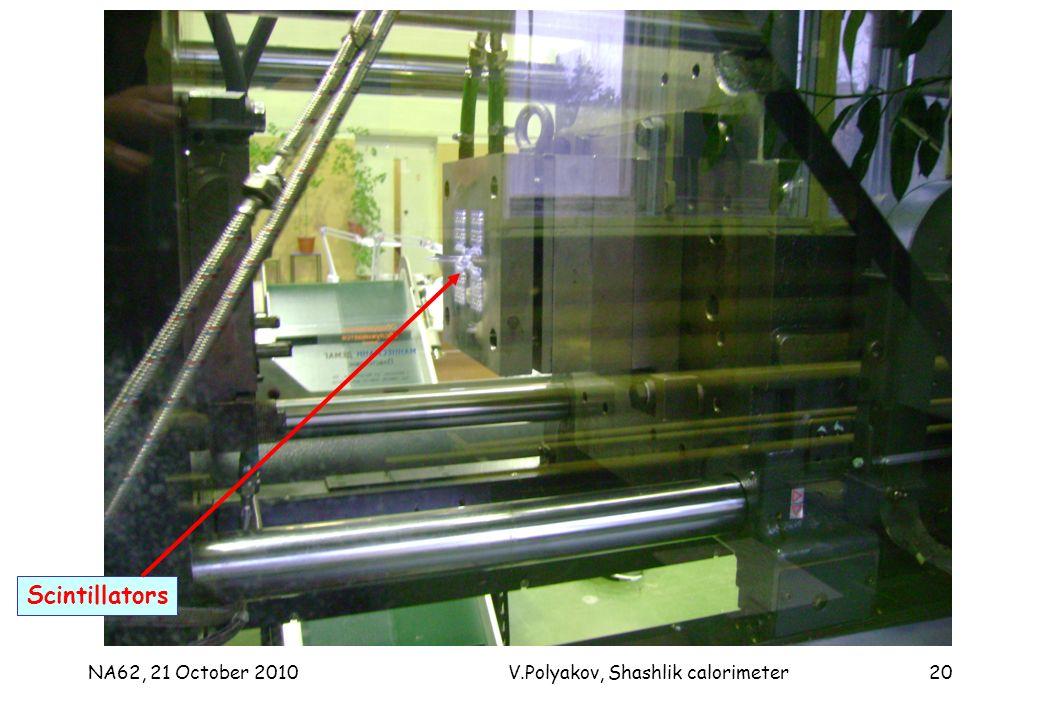 NA62, 21 October 2010V.Polyakov, Shashlik calorimeter20 Scintillators