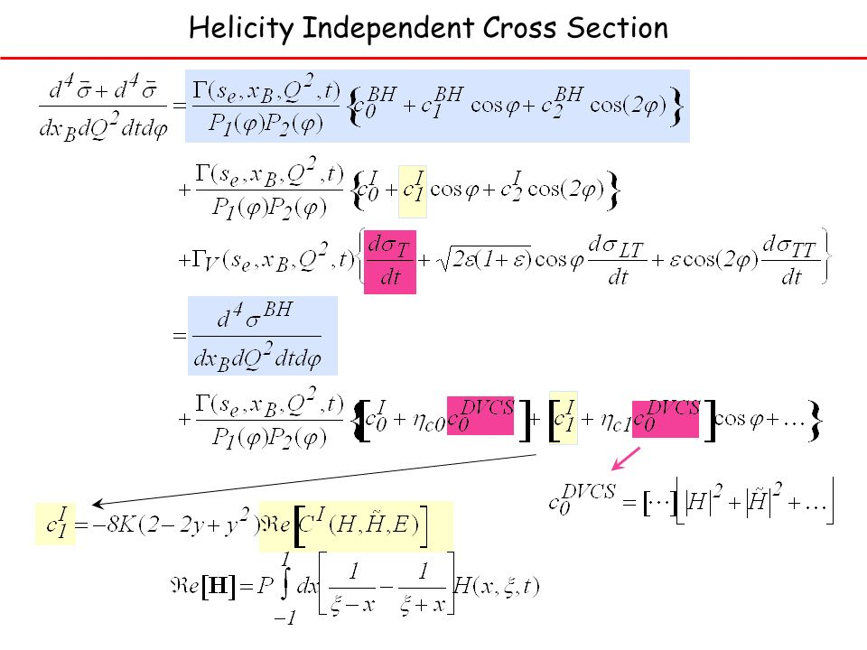 Helicity Independent Cross Section