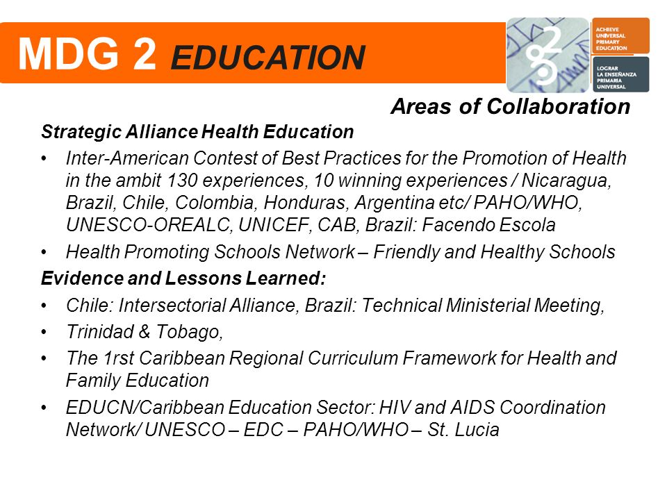 Strategic Alliance Health Education Inter-American Contest of Best Practices for the Promotion of Health in the ambit 130 experiences, 10 winning expe