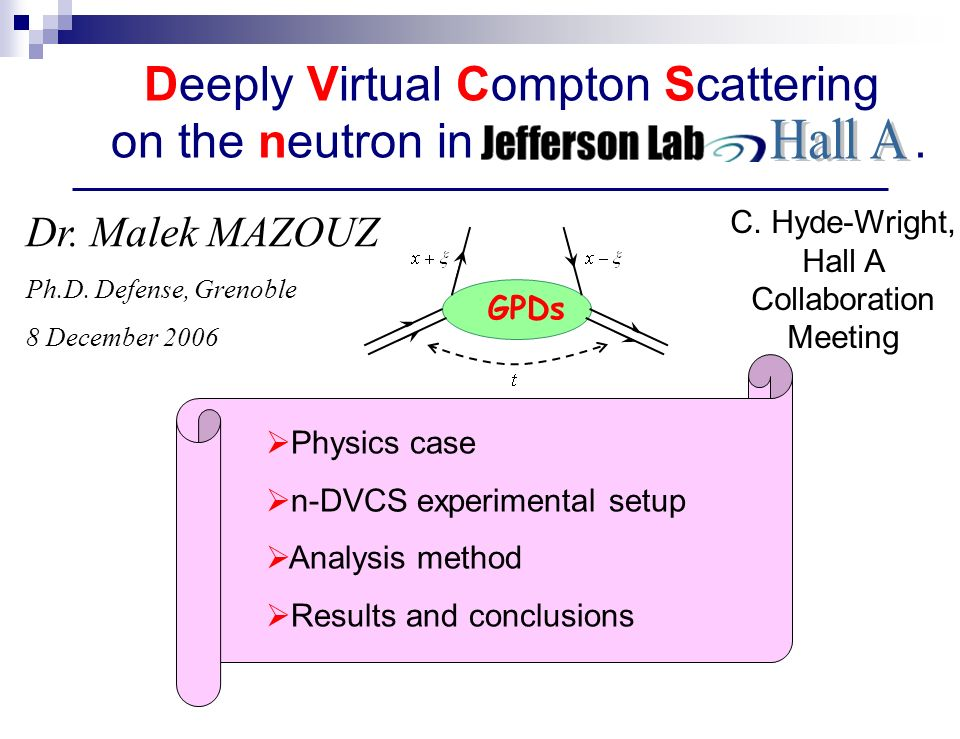 Deeply Virtual Compton Scattering on the neutron in.